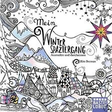 German Winter Christmas Festive Adult Colouring Book Creative Art Therapy Relax