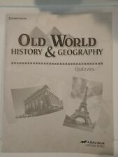 Abeka 5th Grade Old World History And Geography Student Quiz Booklet 4th ed 2010