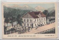 73875/32- Lunz am See im Bezirk Scheibbs mit Bahnhof Hotel Josef Baumann um 1920