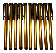 10x Gold stylus entrada lápices touch pen lápiz táctil Tablet celular Lang