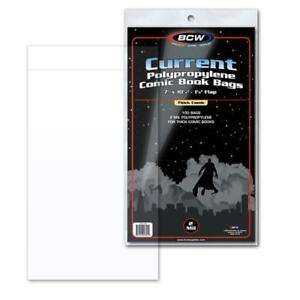 100 BCW CURRENT THICK MODERN AGE COMIC BOOK 2 MIL ACID FREE ARCHIVAL POLY BAGS