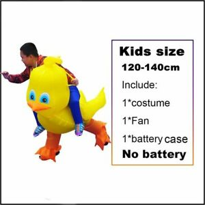 Duck Inflatable Costumes Halloween Cosplay Party Yellow Parent-Kids Role Play