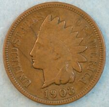 1903 Indian Head Cent Penny Liberty Very Nice Vintage Old Coin Fast S&H 34008