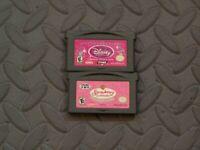 Lot Nintendo Game Boy Advance GBA Games Disney Princess + Strawberry Shortcake