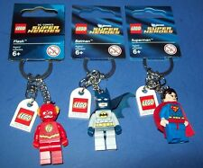 LEGO 3 Keychain lot DC COMICS Dawn of Justice mini-figure  BATMAN~SUPERMAN~FLASH