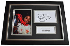 Paul Ince Signed A4 FRAMED photo Autograph display Manchester United AFTAL COA