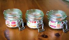 3x Le Parfait 125ml Glass Terrine Airtight Storage Jars. Brand new