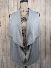 J Crew Size XS Gray Sleeveless Zip Front Draped Vest Shirt Womens Junior