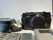 Olympus PEN-F 20.3MP Digital Camera - Black (Body Only) Immaculate. w half case