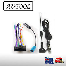 Radio Stereo Antenna+CD PLAYER WIRING HARNESS+FM Stereo RADIO ANTENNA for Ford