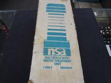 NSA Bacteriostatic Water Treatment Unit 100S