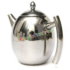 1500ML Stainless Steel Teapot Coffee Pot with Strainer
