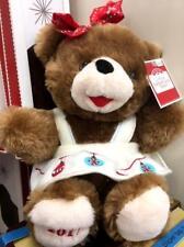 "2017 WalMART CHRISTMAS Snowflake TEDDY BEAR Brown Girl 13"" Red Outfit Brand New."