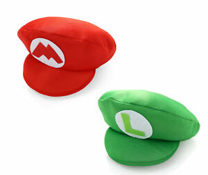 Super Mario Bros Luigi Foam Hat Cap Fancy Dress Cosplay Costume Party