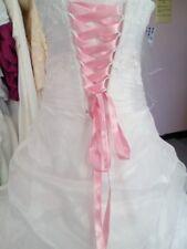 Lacet ruban ROSE CLAIR / 3 mètres - satiné pour robe de mariée/soirée
