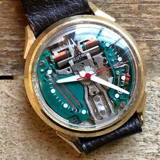 Bulova Accutron 214 Spaceview Wrist Watch - 10k Gold Filled / SS Case - M5 M7