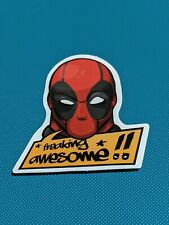 Deadpool Freaking Awesome Vinyl Sticker Laptop Luggage Skateboard