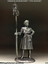 Cossack 17 century, Tin toy soldier 54 mm, figurine, metal sculpture