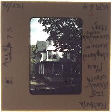 Vtg  35MM Slide 125 Kenilworth Place House Fence Flatbush Brooklyn NYC NY 1975