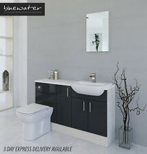 ANTHRACITE / WHITE AVOLA BATHROOM FITTED FURNITURE 1400MM
