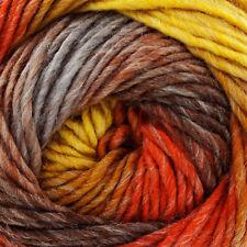 King Cole Riot Chunky Multi Coloured Knitting Yarn - 100g Acrylic Wool Blend Hazelnut 3080
