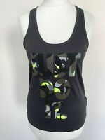 Nike Dri-Fit Activewear Top Size XS Racerback Sleeveless Grey Camo JUST DO IT