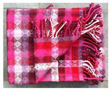 Wohndecke pink Rauten Muster Sofadecke Karo Pad Couchdecke 150x200  Plaid
