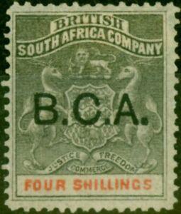 B.C.A. Nyasaland 1893 4s Grey-Black & Vermilion SG11 Fine Mtd Mint (2)