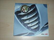 44652) Alfa Romeo 147 Prospekt 01/2001