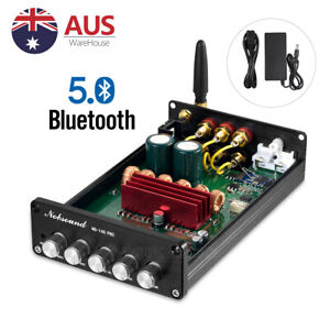 HiFi Bluetooth 5.0 Digital Amplifier Stereo Receiver 2.1 Channel Home Audio Amp
