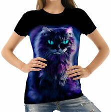 Unbranded Waist Length Cotton Blend Cats T-Shirts for Women