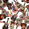 WR_ 50 Pcs Mixed Wood Buttons 2 Holes Flower Guitar Shape Sewing Scrapbooking Or