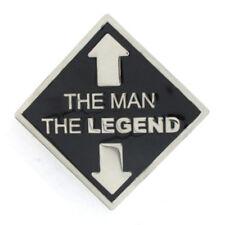 THE MAN / THE LEGEND BELT BUCKLE FUNNY RUDE NOVELTY GIFT FIT SNAP BELT