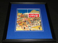 Vintage Drink Coca Cola Circus Framed 11x14 Poster Display Official Repro