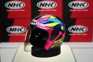 NHK Helmets R1 v2.0 Azlan Shah (Pink Flo/Blue Glossy)