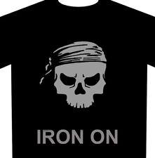 Bandanna Skull Iron-On Heat Transfer Vinyl Fabric HTV