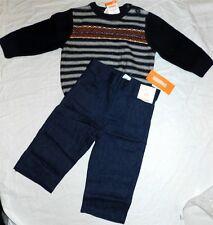 Navy Pant Sweater Set 3pc Gymboree Fall Winter Boy size 12-18 months New