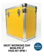 Yellow 12 Inch Album LP Vinyl Leatherette Record Storage Box Flight Carry Case