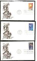 US SC # 2807-2811 Winter Olympics FDC. Set Of 5. Artcraft Cachet