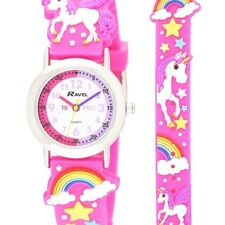 Ravel Unicorn  Time Teacher Dial Kids Girl's Pink Watch R1513.79