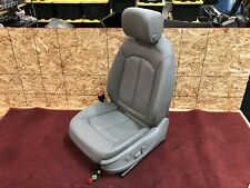 15-18 AUDI A3 S3 8V LEFT FRONT DRIVER LEATHER SEAT ASSEMBLY GRAY WITH AIRBAG