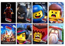 The Lego Movie 2014 Animation Movie cartoon new Postcard 8pcs per set