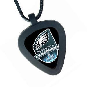 Philadelphia Eagles Super Bowl Pickbandz Mens Womens Real Guitar Pick Necklace