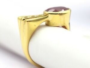 3.43 ct Real Bangkok Ruby Gemstone Ring Oval Cut 18 K Yellow Fine Gold Jewelry