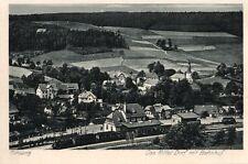 12203/ Foto AK, Flinsberg, Das Mitteldorf mit Bahnhof, ca. 1925