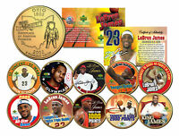 LEBRON JAMES Colorized Ohio State Quarter 10-Coin Set 24K Gold Plated *LICENSED*