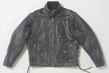 Harley Davidson Mens Vintage 90's PANHEAD Convertible Leather Jacket Vest 2in1 M