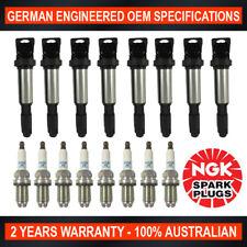 8x Genuine NGK Platinum Spark Plugs & 8x Ignition Coils for BMW X5 645Ci 735i