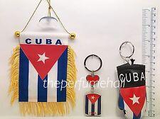 Cuba Cuban Flag Mini Banner Car mirror glass window cubano boxing glove key ring