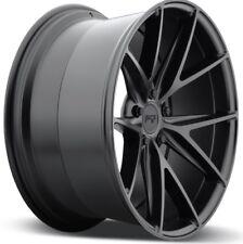 18x8 NICHE MISANO M117 5x120 +40 Matte Black Wheels New Set